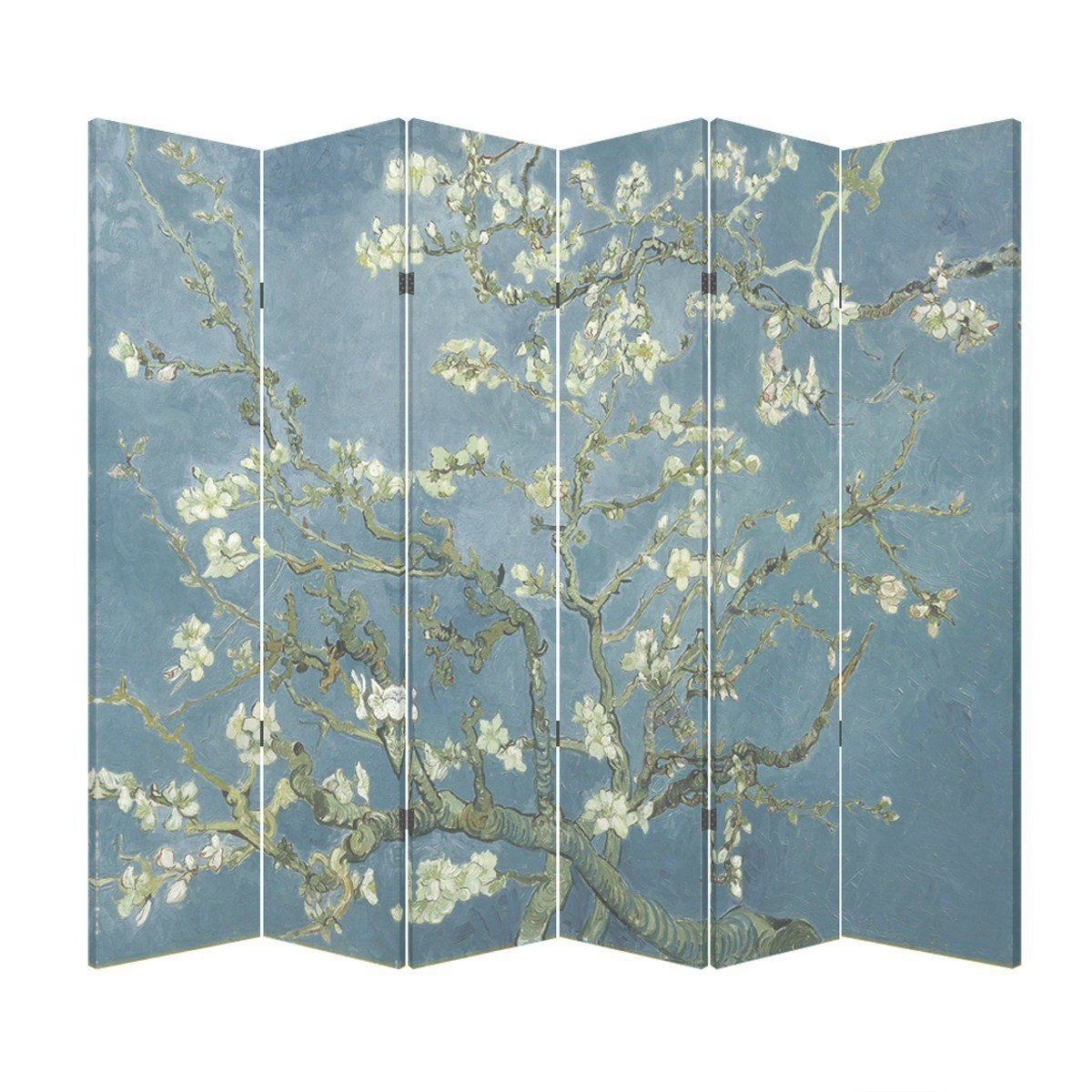 6 Panel Office Wood Folding Screen Decorative Canvas Privacy Partition Room  Divider   Vincent Van Goghu0027s