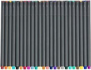 Juego de rotuladores Fineliner Color, rotuladores de punta fina de 0,38 mm, rotulador de dibujo poroso Fine Point, perfecto para escribir en diario Bullet y planificador, 24 colores surtidos de ai-natebok