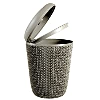 Curver Kosmetikeimer Strick, Kunststoff, braun, 22,4x 22,4x 29,5cm