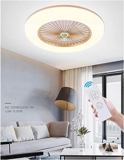 Nordic techo ultrafina del ventilador con la lámpara invisible ...