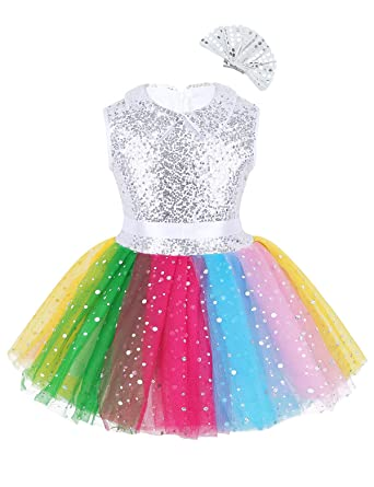 MSemis Vestido Danza Jazz para Niñas Maillot Ballet Falda Tutú ...