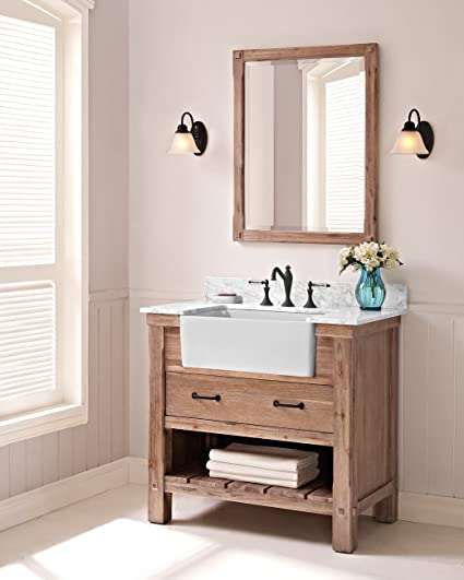 Fairmont Designs 1507 FV36 Napa 36u0026quot; Farmhouse Vanity Base Cabinet Only  Sonoma Sand