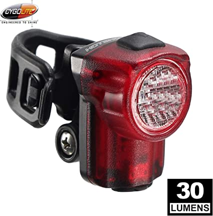 100 Lumen Bike Tail Light Compact Design 6 Night /& Daytime Modes IP64 Water Resistant Secured Hard Mount Great for Busy Roads Cygolite Hotshot User Tuneable Flash Speed USB Rechargeable