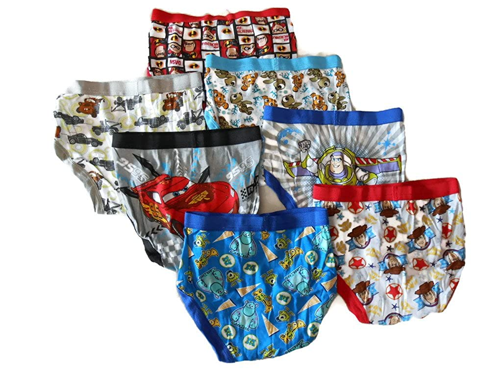 Disney Little Boys' Pixar 7-Pack Brief TBUP7369