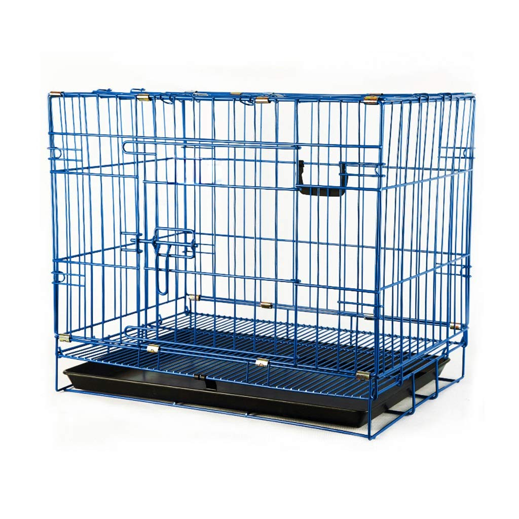 B 46.531.539cmPet fence Pet cage Pet indoor folding dog cage Pet folding fence dog fence Indoor fence Household indoor Foldable big space solid durable (color   C, Size   77  49  56.5cm)