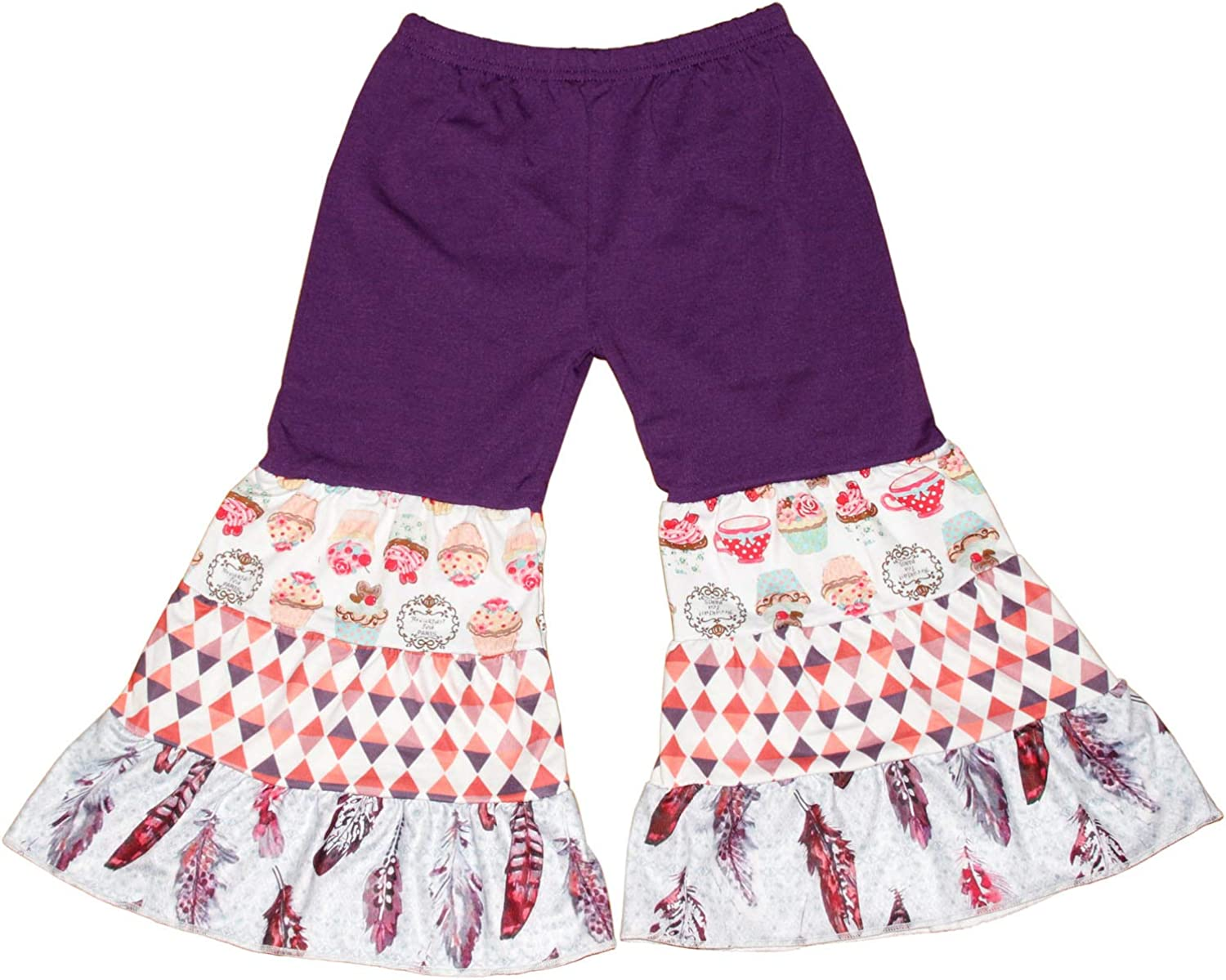 Toddler Girls Fall Winter Holidays Christmas Wear Clothing Sets Dress Pants Boutique Outfits Baby Girls Ruffle Outfits