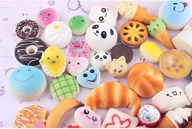 Amazemarket 10 piezas Pack Set Kawaii Jumbo Suave Pan Squishies ...