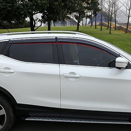 Deflector de viento para coche pack de 4 unidades de ventanas de cromo protector de lluvia para ventanas de coche BeHave yd314w accesorios para ventanas de coche