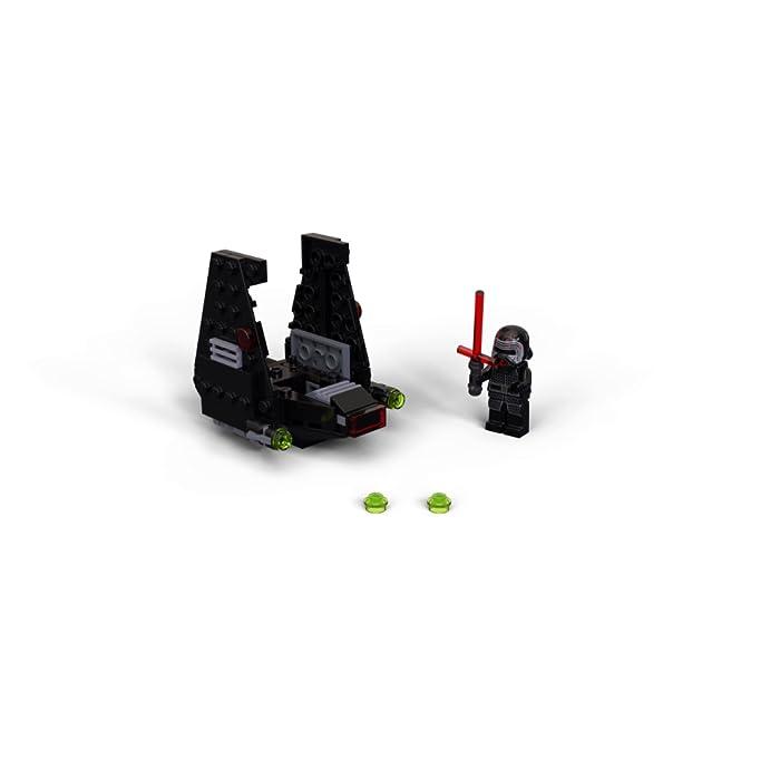 71ThqDXno3S Los recién llegados al mundo de los juguetes de construcción LEGO Star Wars podrán interpretar el papel de un emblemático villano con el modelo LEGO Microfighter: Lanzadera de Kylo Ren (75264), una versión de construcción rápida equipada con cañones que disparan de la que se vio por primera vez en Star Wars: El Despertar de la Fuerza. A los peques les encantará meterse en la piel del malo: pilotar la lanzadera, ajustar las alas para activar los modos de vuelo o aterrizaje, ¡y atacar a la Resistencia con 2 cañones que disparan y la espada láser de la minifigura de Kylo Ren! Kylo Ren cuenta con un flamante casco (novedad en enero de 2020), decorado como si estuviera agrietado, y su propia espada láser; además, se incluyen montones de ladrillos LEGO que animarán a los peques a usar su creatividad para construir algo diferente con otros sets LEGO Star Wars.