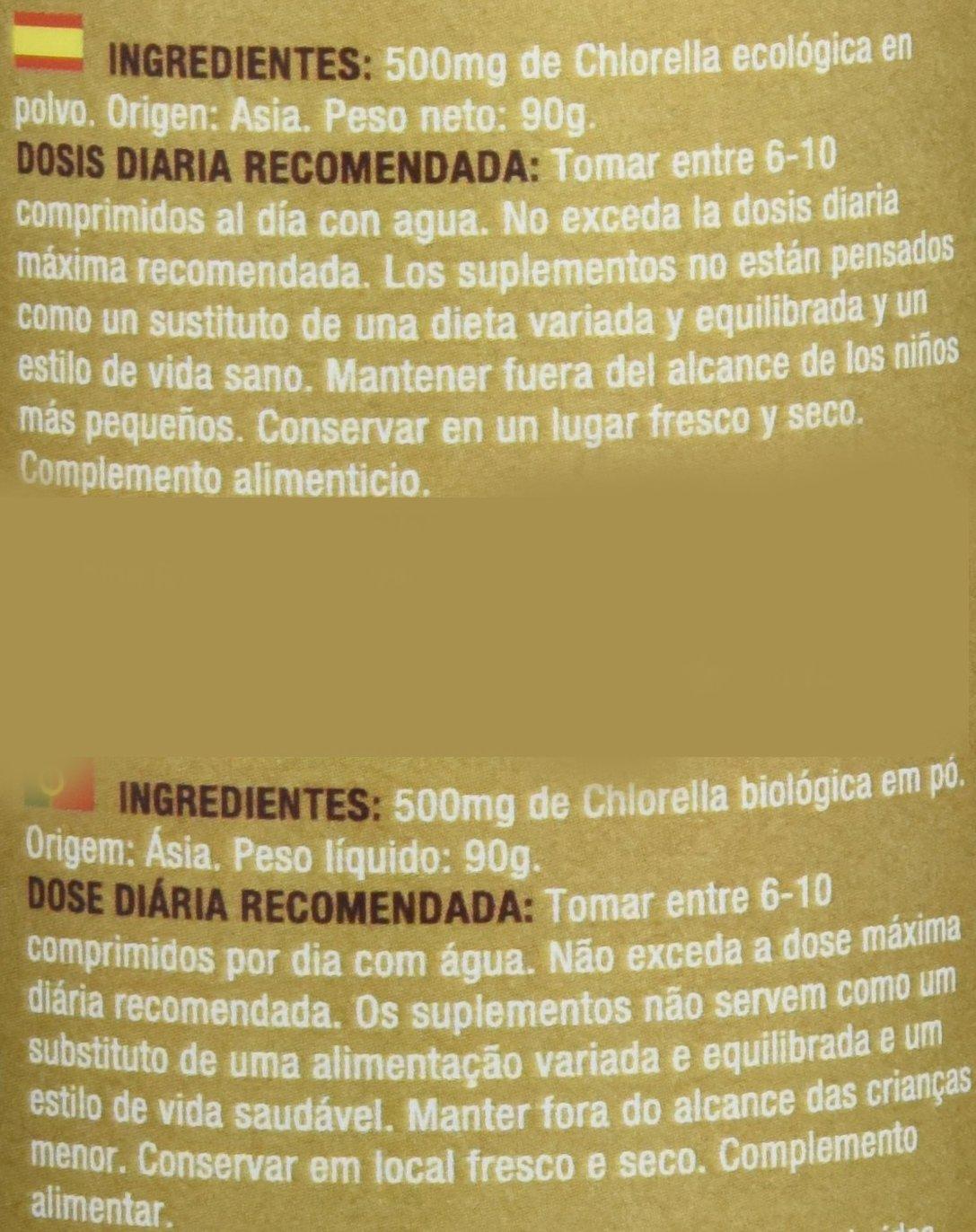 Green Origins - Clórela orgánica, 500 mg: Amazon.es: Alimentación y bebidas