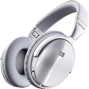 Mpow H5 [2018 Upgrade] Active Noise Cancelling Bluetooth Headphones Microphone Deep Bass Wireless Headphones