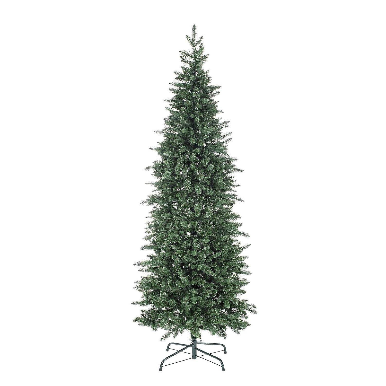 Milo srl Albero di Natale Pino Slim Cernera Verde Realistico 210 Cm Super Folto Natalizio in Polipropilene 210 cm