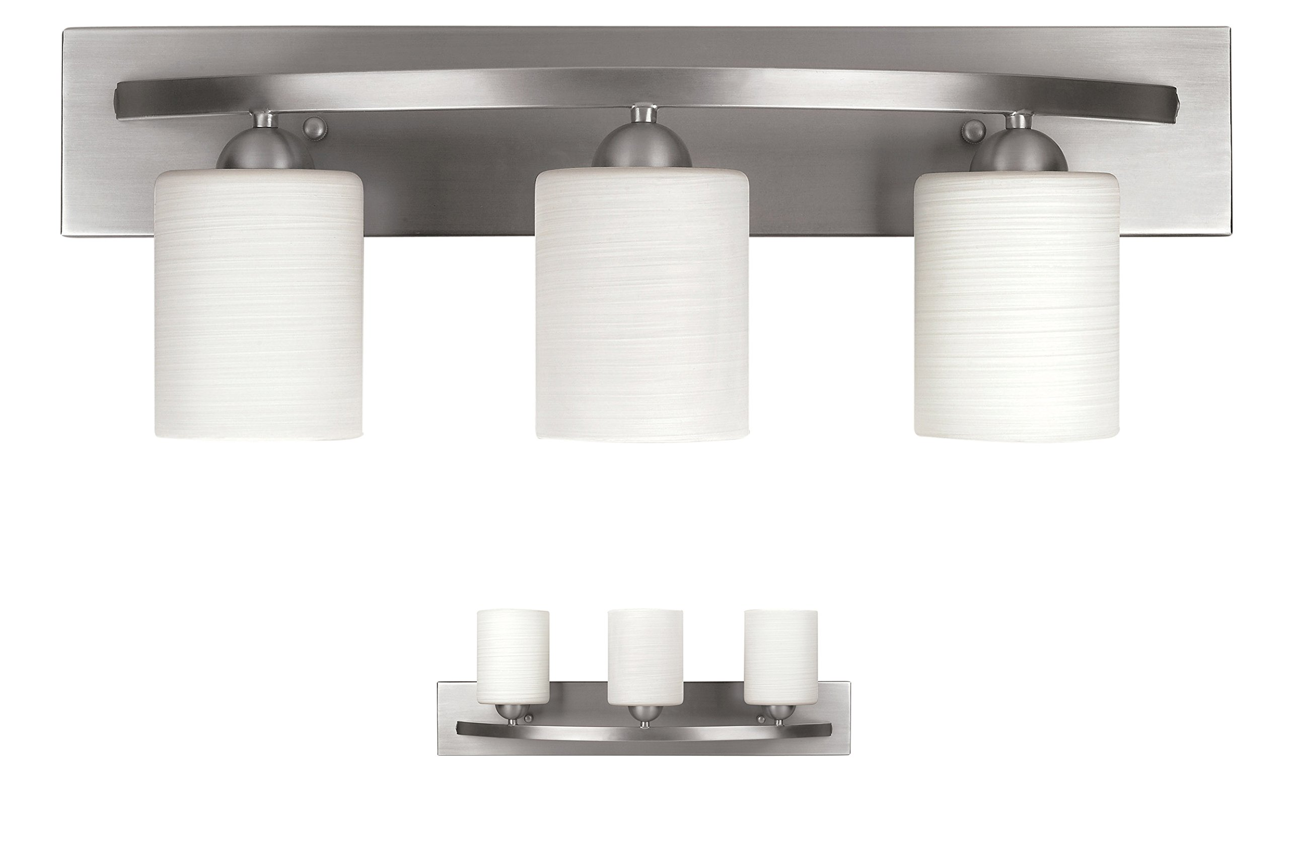 Bennington IVL370A03BPT 3 Bulb Vanity Light Fixture Bath Interior Lighting, Brushed Nickel by Bennington