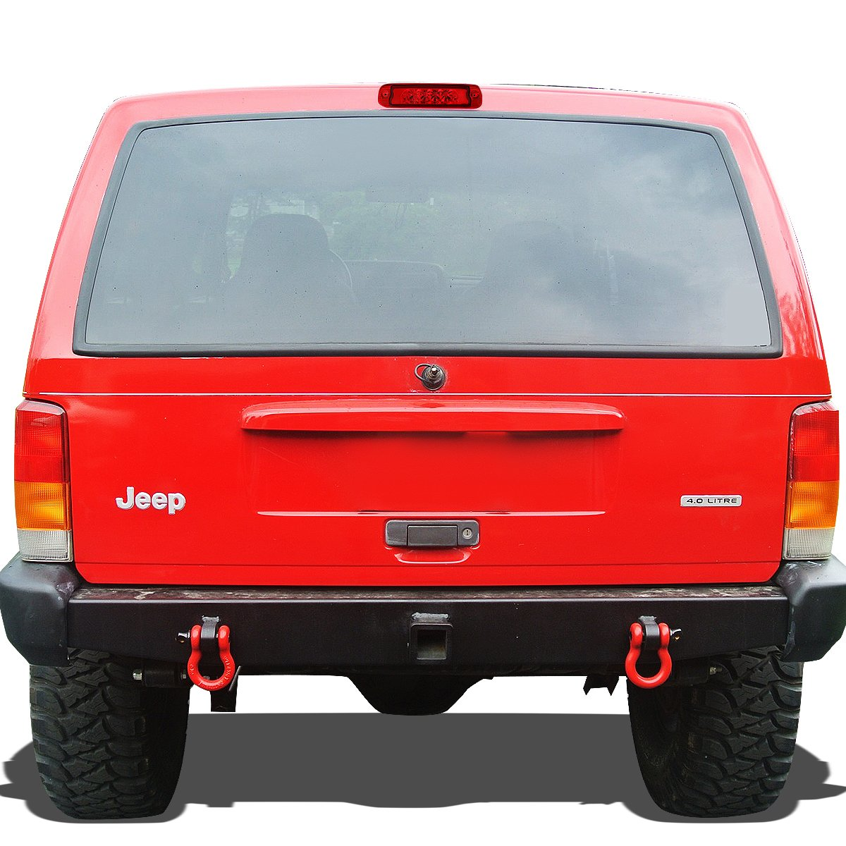 For Jeep Cherokee Rear Hight Mount Led 3rd Third Brake Aftermarket 4 0 Cylinder Head Light Red Lens Automotive