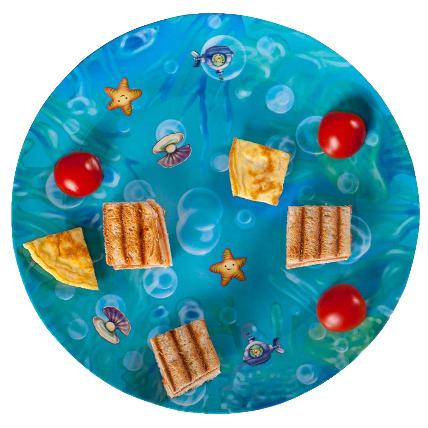 Playte Kids Plate Set of 3, MEMORY Games - Perfect for Difficult and Picky Eaters - Turn Meal Time Into Play Time. Fun Activity Keeping the Focus on Food [Ages 3-8] Melamine BPA Free