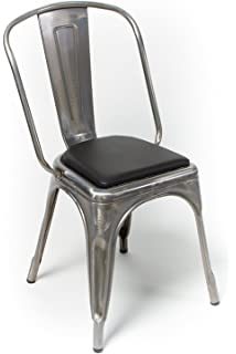 Rounded Back Chair/stool Cushion For Tolix And Other Metal Chairs (Black)