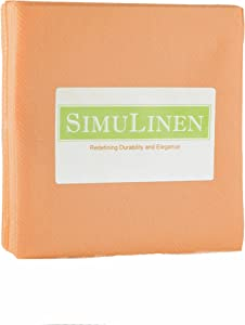 SimuLinen Colored Cocktail/Beverage Napkins - Peach/Apricot - Decorative, Absorbentm Cloth Like & Disposable - (Pack of 250)
