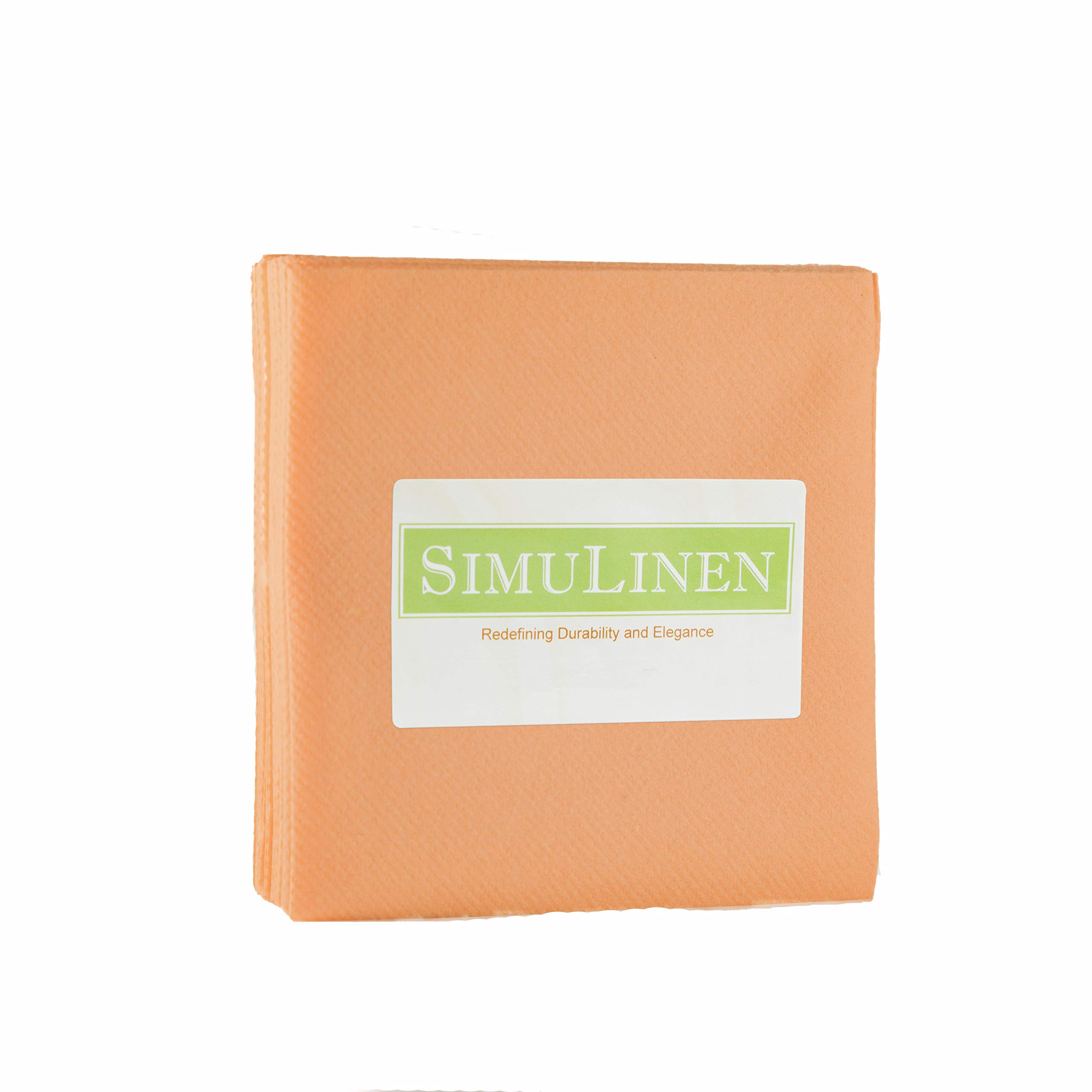 SimuLinen Cocktail & Party Napkins – APRICOT Beverage Napkins – Decorative, Absorbent, Cloth Like & Disposable – (Pack of 250)