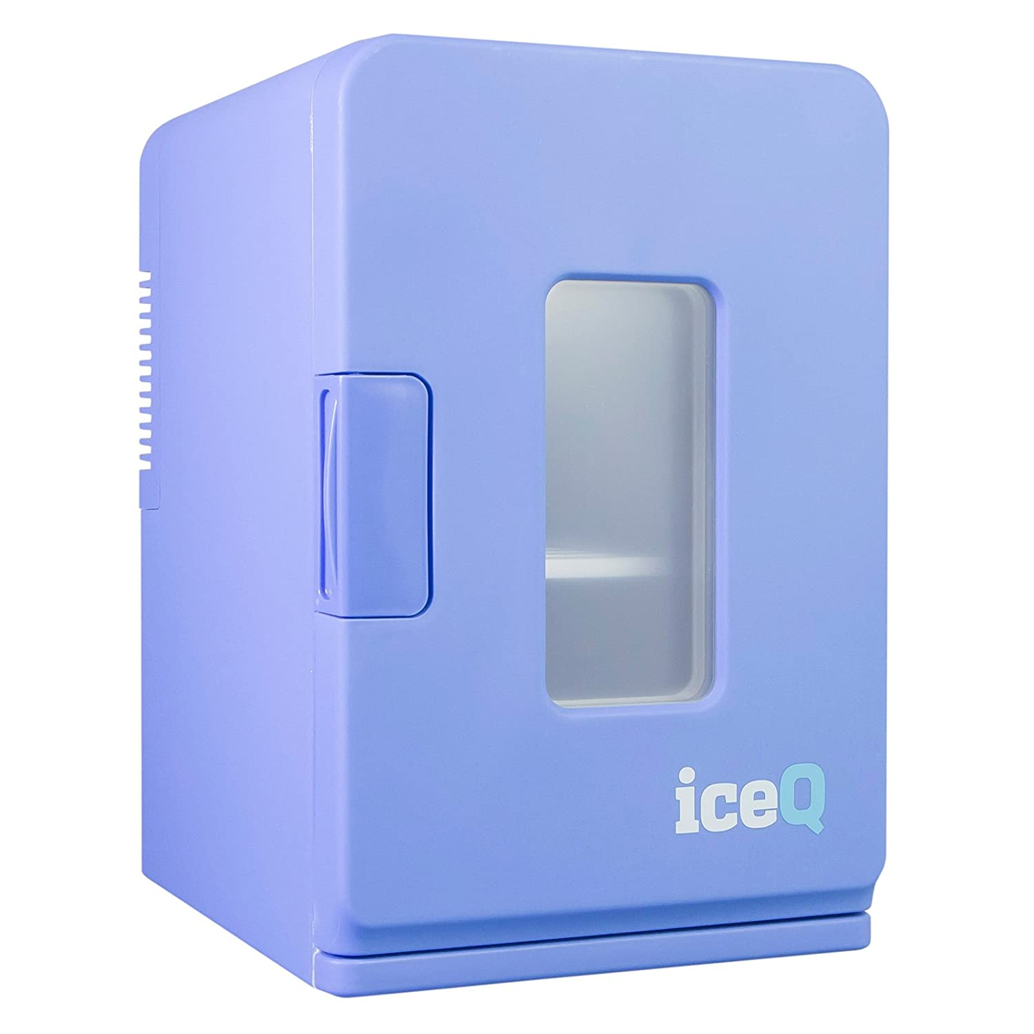 iceQ 15 Litre Deluxe Portable Mini Fridge With Window - Blue ICEQ15bw