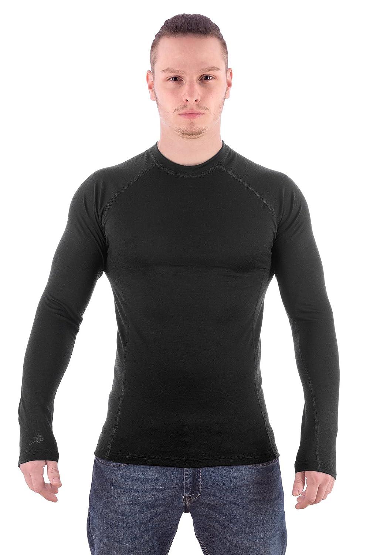 MarkFit Herren 100% Merino Wolle Langarm Shirt Dachstein Hochwertig