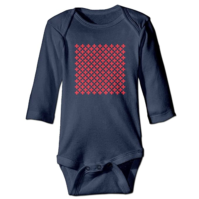 Patrón de la Cruz para bebé algodón personalizado Pelele: Amazon.es: Ropa y accesorios