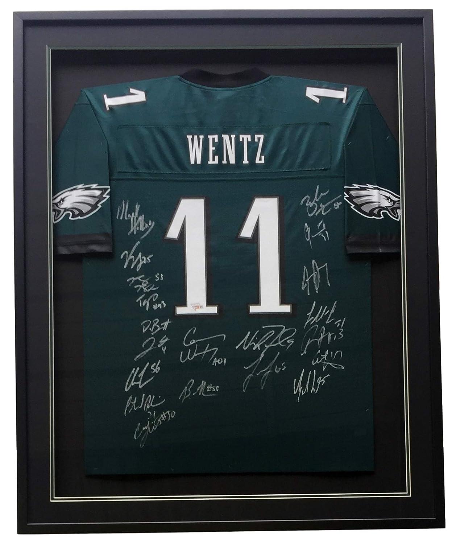 watch 984bb 19377 Philadelphia Eagles Super Bowl 52 LII Team Signed Framed ...