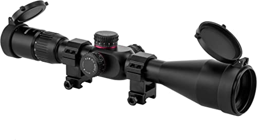 Monstrum G2 4-16x50 First Focal Plane FFP Rifle Scope with Illuminated Mil-Dot Reticle and Parallax Adjustment | Black