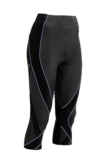 8ab2bd97a4f080 Amazon.com : CW-X Women's 3/4 Length Pro Tights (Black/Lavender Stitch,  X-Small) : Running Tights : Clothing
