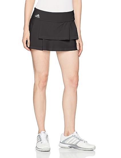 896d842b69 adidas Women's Tennis Advantage Skirt, Black/Clear Onix/Layered, Small
