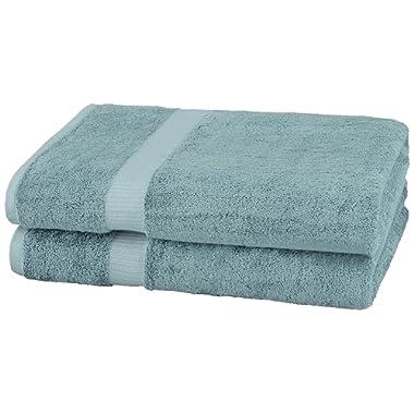 Pinzon Organic Cotton Bath Sheet Towel, Set of 2, Spa Blue