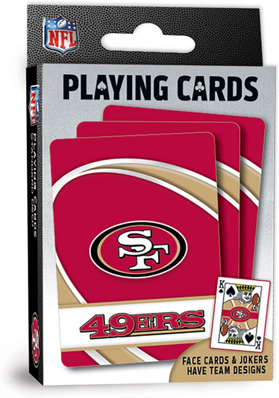 "MasterPieces NFL San Francisco 49ers Playing Cards, 2.5"" x 3.5"""