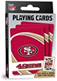 "MasterPieces NFL San Francisco 49ers Playing Cards,Red,4"" X 0.75"" X 2.625"""