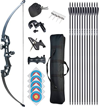 Takedown Recurve Bow 30//40lbs Right Hand Arrows Hunting Shooting Game Accessory