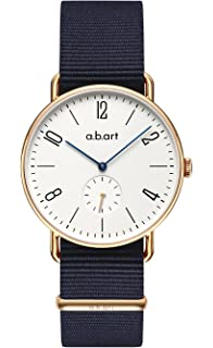 abart Watches FN41-001-17L Sapphire Crystal Window Bauhaus Style Brown Watches for Men