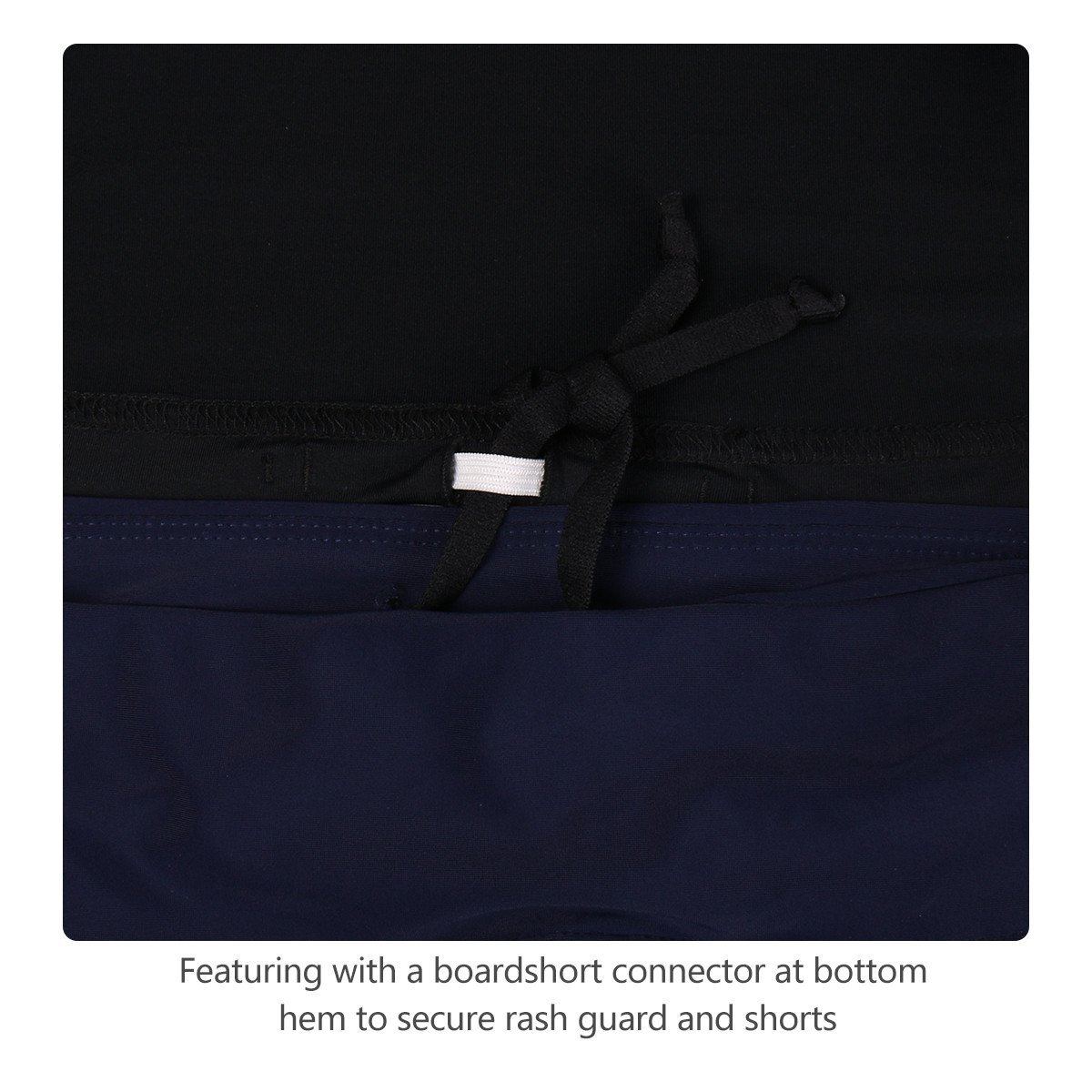 Baleaf Women's Long Sleeve Sun Protection Splice Rashguard Swim Shirt with Back Pocket Black Size M by Baleaf (Image #6)