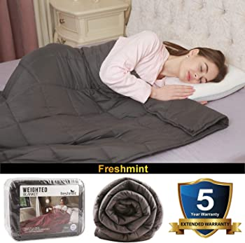 Freshmint 48'' x 72'' 15-lb. Weighted Blanket