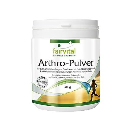 fairvital - Arthro - 400 g de polvo para las articulaciones - Con colágeno, glucosamina