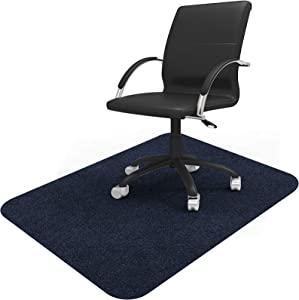 """Vicwe Office Chair Mat, 1/6"""" Thick 48"""" x 36"""" Multi-Purpose Low Pile Desk Chair Mat for Hardwood Floor, Upgraded Version (Dark Blue, 36""""x48"""")"""
