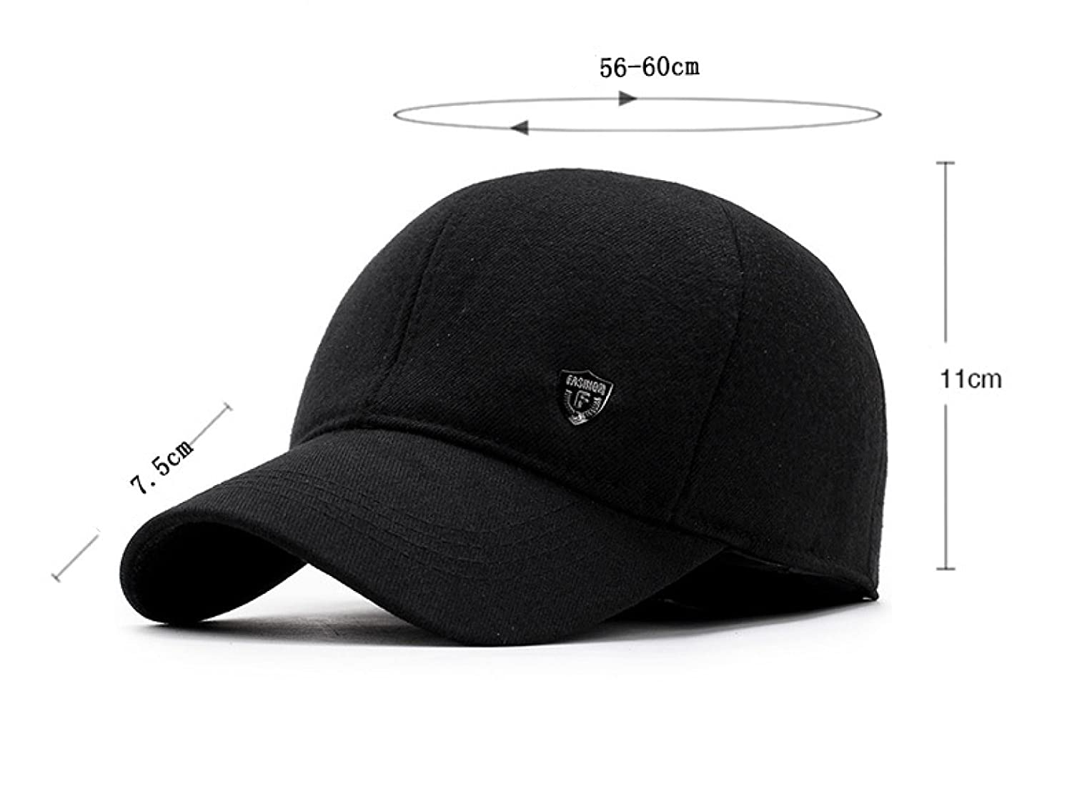024ddaa7417 Hat Men Outdoors Leisure Warm Baseball Cap Middle-aged Autumn And Winter  Thickening Ear Protection Adjustable