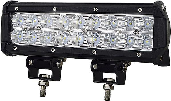 AUXTINGS 9 in 54W LED Light Bar Spot Flood Combo Beam 5400LM for Offroad Pick up trucks SUV 4WD AWD ATV UTV Boat Jeep Van Wagon Van Camper F150,2Pcs