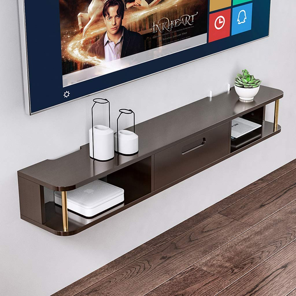Floating Shelf Modern Wall Mounted Media Console Floating TV Shelf TV Stand TV Cabinet Game Console Audio/Video Console Floating Holders Hanging Shelf Entertainment Storage Shelf by SjYsXm-Floating shelf