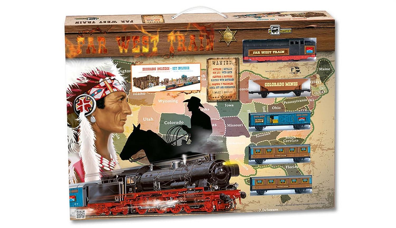 Tren Electrico Metalico LUZ FAR WEST Edificios Oeste y Accesorios 695_tren