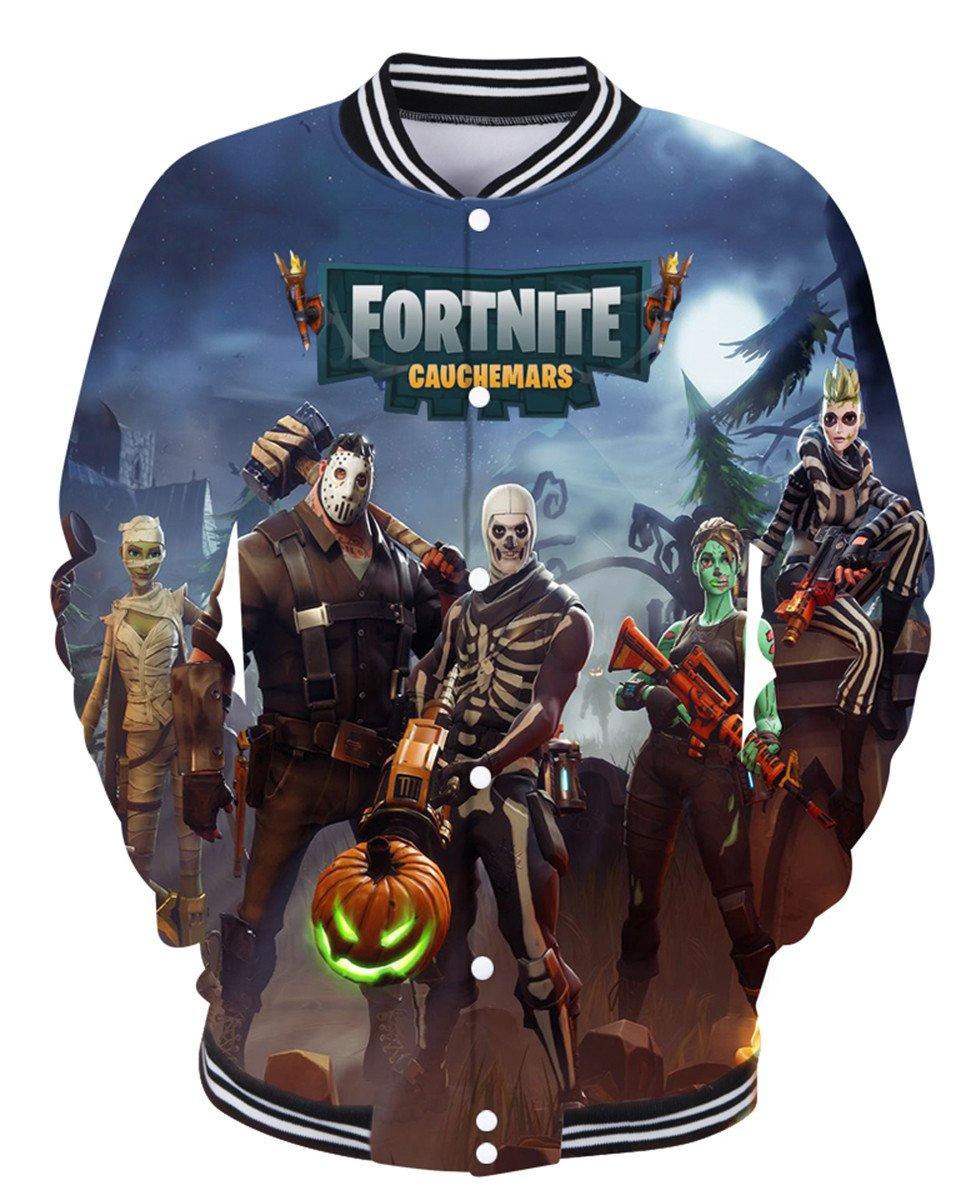 SIMYJOY Fortnite Hoodie 3D Print Jacket Cool Sweatshirt for Men Women Teen 2XS by SIMYJOY ENJOY THE SIMPLICITY
