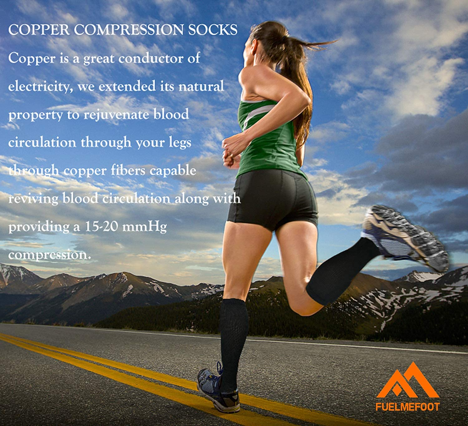 48d1af6aa474a2 Amazon.com: Copper Compression Socks For Men & Women(3 Pairs),15-20mmHg is  Best For Running,Athletic,Medical,Pregnancy and Travel: Clothing