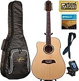 LEFTY Oscar Schmidt Acoustic/Electric 12 String Guitar, Gigbag Bundle