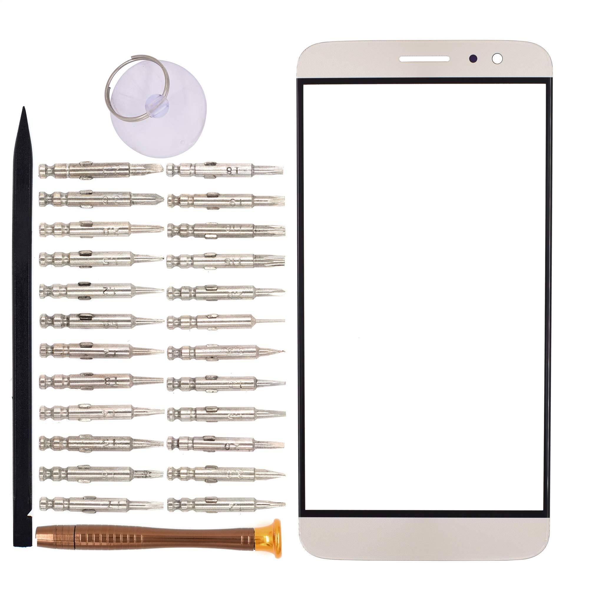 Vidrio Frente para Huawei G9 Plus dorado [GOODYITOU]