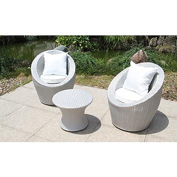 Flowuzz Garden - Salon de jardin 2 places - TOTEM-3-MED - en résine ...