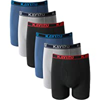 KAYIZU Brand Men's Underwear Ultimate Soft Cotton Boxer Brief (6-Pack)