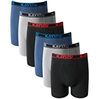 KAYIZU Men's Underwear Ultimate Soft Cotton Boxer Shorts (6-Pack)