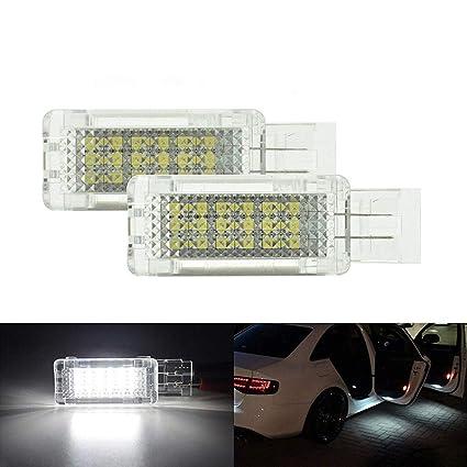 Cortesía LED blanco puerta de coche Bienvenido proyector de luz ...